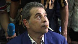 توفيق عكاشة خلال إحدى جلسات محاكمته العام الماضي