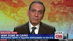 سفير مصر بأمريكا لـCNN: كل المصريين مع السيسي بضرب داعش وطرح تشكيل قوات عربية موحدة يُبحث مع الشركاء