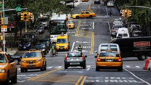 صورة عامة لسيارات أجرة في نيويورك
