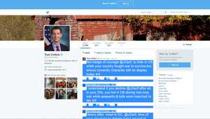 صفحة السناتور الأمريكي توك كوتون على تويتر