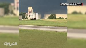 شاهد.. إعصار مرعب يتحرك في ولاية أوكلاهوما