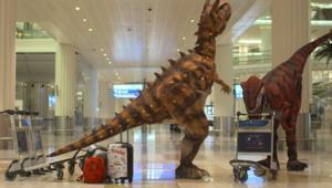 شاهد.. ديناصورات