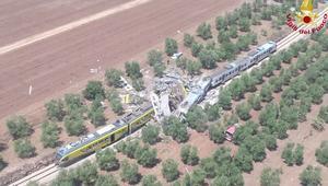 شاهد..اصطدام بين قطارين يتسبب بمقتل 20 شخص بايطاليا