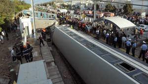 حادث انقلاب قطار في العاصمة التونسية 2010