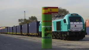 قطار صيني يصل مدريد