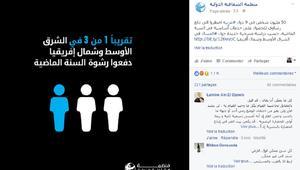 الشفافية الدولية: ثلث مواطني دول عربية دفعوا رشاوى في عام واحد