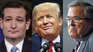 """أمريكا: ترامب يسخر من """"رجولة"""" كروز """"وقوة"""" بوش"""