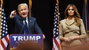 ترامب وزوجته في أحد التجمعات الانتخابية