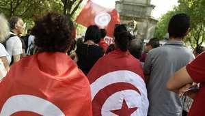 مئات التونسيين يتظاهرون في العاصمة احتجاجًا على مشروع يربطونه بعهد بن علي