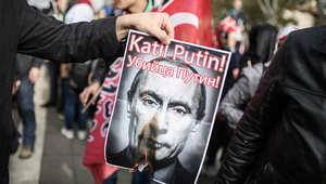 """أردوغان يعرب عن """"حزنه"""" لحادث إسقاط المقاتلة الروسية"""