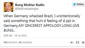اعتذر المشرع الماليزي عن تعليقه