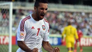 """الإمارات تتقدم بأسرع هدف في تاريخ كأس آسيا بفضل """"مبخوت كابوس الخليج"""" والبحرين ترد بهدف جميل"""