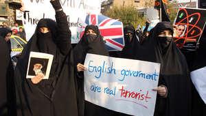 إبان الاحتجاجات ضد المملكة المتحدة عام 2011
