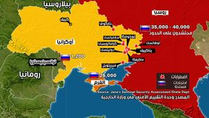 موازين القوى ومناطق التوتر في أوكرانيا وروسيا