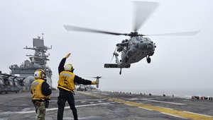 """البحرية الأمريكية تؤكد تحطم إحدى مروحياتها خلال """"مهمة تدريبية"""" بشمال الكويت"""