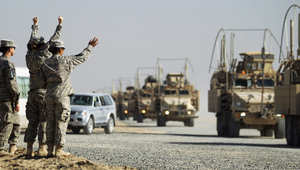 صورة ارشيفية لانسحاب القوات الأمريكية من العراق في 2011