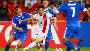 من مباراة أوزبكستان والصين