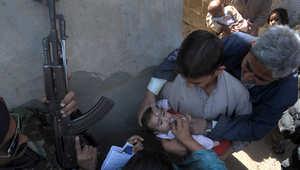 حملات تطعيم تحت الحراسة المسلحة