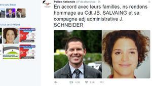 """الشرطة الفرنسية تنشر صورتي الشرطي وزوجته.. ضحيتا شاب بايع """"داعش"""""""