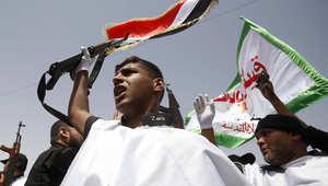 متطوعون عراقيون في استعراض للقوة بالشوارع السبت
