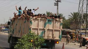 """متطوعون عراقيون في طريقهم للانضمام للقتال ضد """"داعش"""""""
