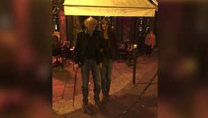 صورة للنائب وليد جنبلاط وزوجته نورا نشرها عبر حسابه على تويتر