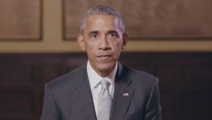 شاهد.. أوباما يؤيد ماكرون في سباق الرئاسة الفرنسية