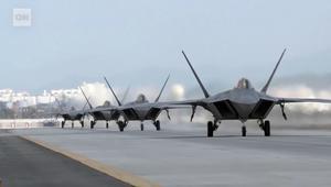 طائرات الشبح الامريكية بكوريا الجنوبية استعدادا لمناورات