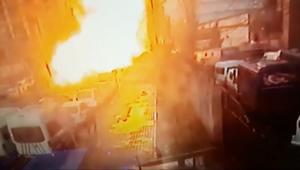 شاهد.. لحظة الانفجار في ازمير التركية بكاميرات المراقبة