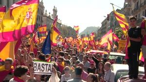 مظاهرات حاشدة في برشلونة ضد انفصال كتالونيا