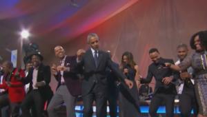 أوباما يقيم حفلة وداع في البيت الأبيض ويرقص مع المشاهير السود