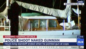 الشرطة الأمريكية تطلق النار على مسلّح عارٍ على متن قارب