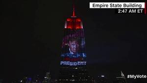 CNN تعرض صورة الرئيس ترامب على مبنى امباير ستيت