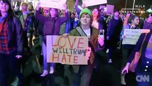 احتجاجات ضد ترامب في عدة ولايات أمريكية