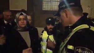 شاهد لحظة إبلاغ وزيرة العائلة التركية بمغادرة هولندا