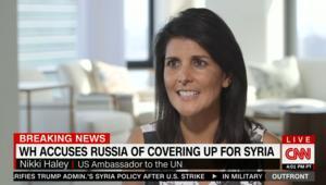 نيكي هالي: أظن أن روسيا كانت تعلم بهجوم الأسد الكيماوي