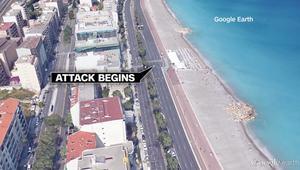 بالفيديو: خريطة تظهر مسار شاحنة هجوم نيس من بدايته إلى لحظة مقتل بوهلال