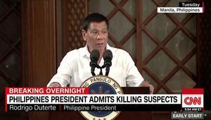 رئيس الفيليبين رودريغو دوتيرتي: كنت أقتل المجرمين بنفسي
