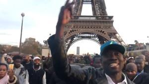 مظاهرات أمام السفارة الليبية في باريس بعد فيلم CNN