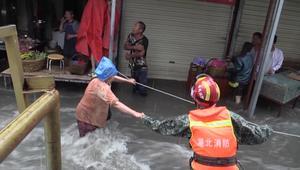 أمطار غزيرة تؤدي إلى سيول مفاجئة في الصين