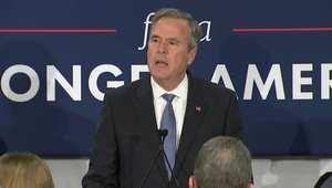 بالفيديو: جيب بوش يعلن انسحابه من سباق الرئاسة الأمريكية