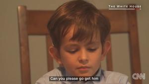 """طفل يعطي أوباما والعالم درسا بـ""""عمران"""" السوري"""