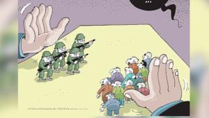 """حظر نشر عدد مجلة ينتقد رسم غلافها أردوغان ومحاولة الانقلاب.. ومتظاهرون يُذكرون بواقعة """"شارلي إيبدو"""""""