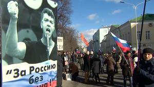 آلاف الروس يتظاهرون في ذكرى اغتيال معارض لبوتين