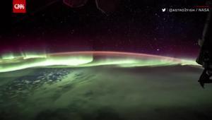 شاهد.. أضواء الشفق القطبي من محطة الفضاء الدولية!