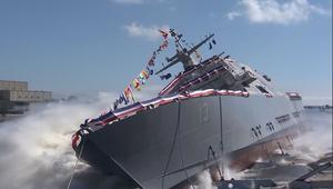 البحرية الأمريكية تطلق سفينتها المقاتلة الجديدة