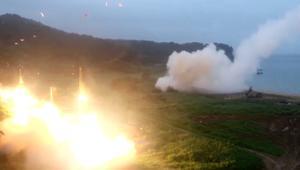 مناورات بالذخيرة الحية بين أمريكا وكوريا الجنوبية بعد صاروخ بيونغ يانغ