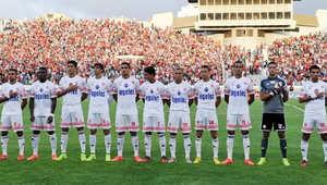 تشكيلة الوداد المغربي في إحدى مبارياته