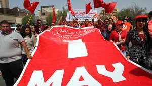 """صور من الشرق والغرب.. كيف يحتفل العالم بـ""""يوم العمال""""؟"""