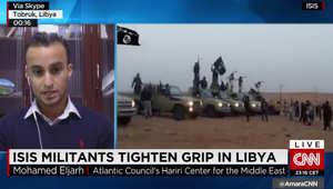 محلل يبين لـCNN المساحات التي يسيطر عليها داعش في ليبيا: التنظيم على مشارف مصراته ويعزز تواجده بالنوفلية